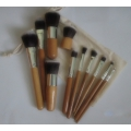 11 pcs makeup brushes+bag